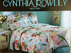 CYNTHIA ROWLEY BIRD BUTTERFLY DRAGONFLY FLORAL MULTI COLOR KING QUILT SET 3~NIP~