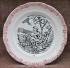 French Faience Transferware Plate New Question Serie Annamite H B Choisy 19th C