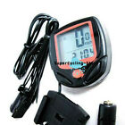 New Bike Bicycle Cycling Computer LCD Odometer Speedometer free shipping 548