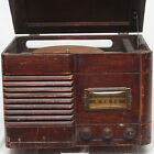 Vintage Silvertone Shortwave radio and record player Combo Collectable Antique