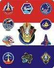 NASA Space Shuttle Program maiden and final mission patches 8 x 10 metal sign