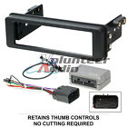 98 2013 Harley Touring Radio Install Adapter W Thumb Control Dash Kit Stereo CD