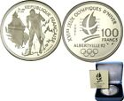 elf France 100 Francs 1991 Proof Silver  Olympics Cross-Country Skier