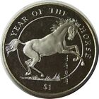 elf  Sierra Leone 1 Dollar 2002 Year of the Horse