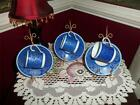 Rosenthal Selb - GERMANY DEMI CUPS AND SAUCER'S SET OF 3 BLUE GOLD GILT