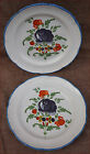 Paire of Plates Bouquet of Roses St Clement French Faience 19th Century