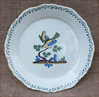 French Wedding Scalloped Plate Dove Nevers French Faience 18th C