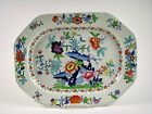 Antique Hand Painted Staffordshire Platter