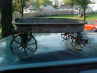 vintage HY-SPEED  CHILDS PULL BEHIND WAGON,CAST IRON WHEELS