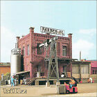 KIBRI HO scale 9786 - Small Factory Building with Annex and Crane - KIT