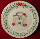 LENOX china HOLIDAY ANNUAL CHRISTMAS PLATE 1993 FIREPLACE box/certificate
