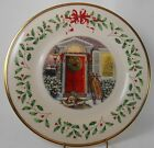 LENOX china HOLIDAY ANNUAL CHRISTMAS PLATE 2005 Home for the Holidays