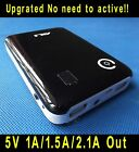 Black 5V 1A 1.5A 2A USB 18650 battery Mobile Power Charger box For Phone LED MP4