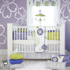 Baby Girl Green Lavender Floral Tropical Beach Crib Nursery Quilt Bedding Set