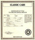 Danbury Mint Certificate of Title 1934 Packard V-12 Lebaron Speedster red