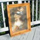 Antique CARVED VICTORIAN 1800's Wood Picture Frame LADY PORTRAIT HOLDS 18 x 24
