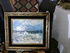 Morris Katz Seascape  OIL  PAINTING  1984  signed listed Framed 12
