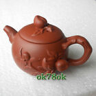 Flat peach-shaped Antique Yixing Purple Clayed Teapot Free Shipping *ON SALE*