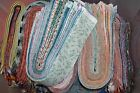 Lotb of 40 3 MIXED colors strips jelly roll quilt cotton fabric grab bag