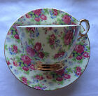FAB Vintage Old Royal Bone China Tea Cup & Saucer Floral Chintz England Mint