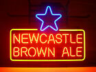 NEW NEWCASTLE BROWN ALE REAL GLASS NEON BEER LAGER BAR PUB LIGHT SIGN