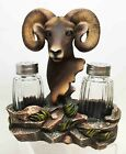Bighorn Sheep Ram Salt and Pepper Shakers Holder Skull Home Decor Figurine