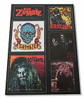 ROB ZOMBIE VINYL STICKER SHEET 6 DESIGNS NEW OFFICIAL WHITE