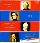 2010 P D US MINT EIGHT COIN PRESIDENTIAL DOLLAR SET LINCOLN SEALED SET