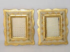 2 GILT WOOD FLORENTINE PICTURE FRAMES 5.5X4.5