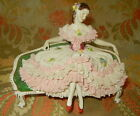 Antique Dresden Meissen Lace Figurine Fantastic Woman in Repose