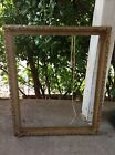 VINTAGE antique Carved Wood GESSO Frame Gold Gilt  leaf ornate