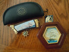FRANKLIN MINT : Cutty Sark Collector knife and Matching Pocket Watch Set