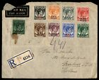 Malaya BMA Color Franking on 1946 Registered airmail Cover to Netnerlands