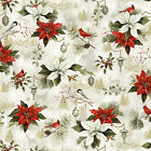 100 % cotton quilting fabric  Woodland xmas  4430 24464 mul1  red rooster bty