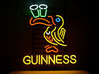 NEW GUINNESS IRISH LAGER ALE TOUCAN REAL GLASS NEON BEER BAR PUB LIGHT SIGN
