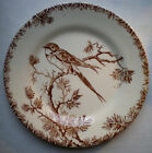 Old French Art Nouveau Majolica Plate signed GIEN, Provençal style, Swallow