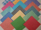 lot of 100 quilting sewing blocks 4 inch squares Ginghams variety kit