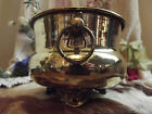 Chic Vintage BRASS Ring Vase URN BASKET Pot PLANTER Bowl Footed METAL Gatco Art
