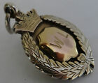 ANTIQUE 1919 SILVER & GOLD ALBERT POCKET WATCH CHAIN INITIALS W L FOB MEDAL