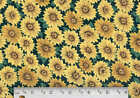 Sunflower cotton fabric floral quilt quilting sewing craft BTY