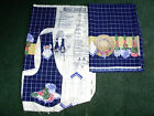 Daisy Kingdom Hats & Flowers border fabric and vest panel