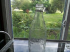 COCA COLA  GLASS BOTTLE CLEAR WITH SCREW TOP  9 INCHES TALL