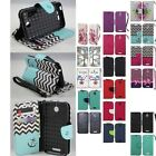For HTC Desire 510 Cell Phone Case Hybrid PU Leather Wallet Pouch Flip Cover