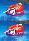 2 Swimline 9078 Swimming Pool UFO Squirter Toy Inflatable Lounge Chair Floats