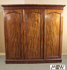 c1840 Antique Mahogany Victorian Sectional Armoire Wardrobe Closet