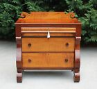 Gorgeous Tiger Maple & Cherry American Empire Chest w Key Circa 1840's