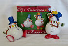 "New Large Set of  ""Cool Snowmen"" Salt & Pepper Shakers and Christmas Decorations"