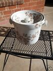 Antique 1891 Brown Aesthetic Movement Porcelain Slop Jar Pail Chamber Pot