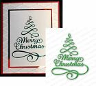 MERRY TREE DIE106 S die by IMPRESSION OBSESSION Christmas Tree Words Sentiment