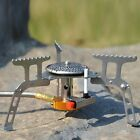 Hiking Camping Picnic Cookout Portable Gas Stove Furnace Split Burner Cookware